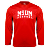 Performance Red Longsleeve Shirt-MSUM Dragons