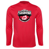 Syntrel Performance Red Longsleeve Shirt-2017 Northern Sun Intercollegiate Conference Womens Champions