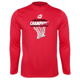 Syntrel Performance Red Longsleeve Shirt-2017 Northern Sun Intercollegiate Conference Mens Champions