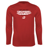 Performance Red Longsleeve Shirt-2018 Womens Basketball Champions