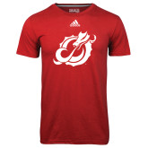 Adidas Climalite Red Ultimate Performance Tee-Dragon Mark