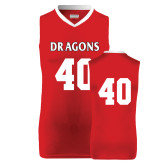 Replica Red Adult Basketball Jersey-#40