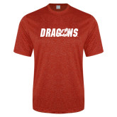 Performance Red Heather Contender Tee-Dragons