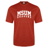 Performance Red Heather Contender Tee-MSUM Dragons