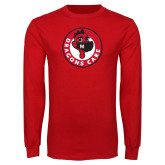 Red Long Sleeve T Shirt-Dragons Care