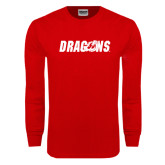 Red Long Sleeve T Shirt-Dragons
