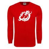 Red Long Sleeve T Shirt-Dragon Mark