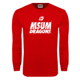 Red Long Sleeve T Shirt-Type Slash Design