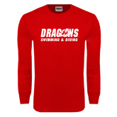Red Long Sleeve T Shirt-Swimming & Diving
