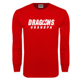 Red Long Sleeve T Shirt-Grandpa