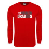 Red Long Sleeve T Shirt-March On Dragons