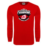 Red Long Sleeve T Shirt-2017 Northern Sun Intercollegiate Conference Womens Champions