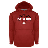Under Armour Red Performance Sweats Team Hoodie-Arched Basketball Design