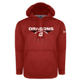 Under Armour Red Performance Sweats Team Hoodie-Football Design