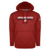 Under Armour Red Performance Sweats Team Hoodie-Swimming & Diving Design