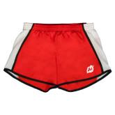Ladies Red/White Team Short-Dragon Mark
