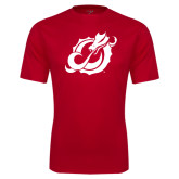 Performance Red Tee-Dragon Mark