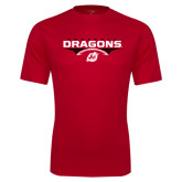 Performance Red Tee-Football Design