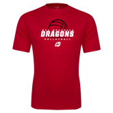 Performance Red Tee-Volleyball Design