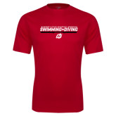 Performance Red Tee-Swimming & Diving Design
