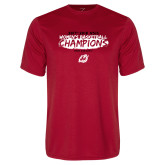 Performance Red Tee-2018 Womens Basketball Champions