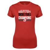 Ladies Syntrel Performance Red Tee-2017 Northern Sun Intercollegiate Conference Men and Women Champions
