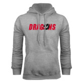 Grey Fleece Hoodie-Dragons
