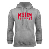 Grey Fleece Hoodie-MSUM Dragons