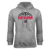 Grey Fleece Hoodie-Arched Basketball Design