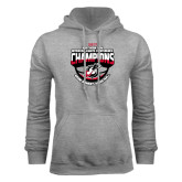 Grey Fleece Hoodie-2017 Northern Sun Intercollegiate Conference Womens Champions