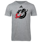 Adidas Sport Grey Logo T Shirt-Dragon Mark