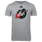 Adidas Sport Grey Logo T Shirt-Dragon Mark
