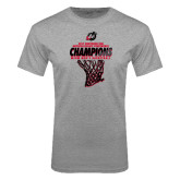 Grey T Shirt-2017 Northern Sun Intercollegiate Conference Mens Champions