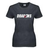Ladies Dark Heather T Shirt-Dragons
