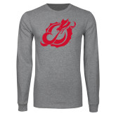 Grey Long Sleeve T Shirt-Dragon Mark