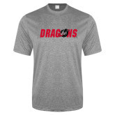 Performance Grey Heather Contender Tee-Dragons