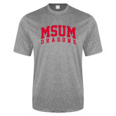 Performance Grey Heather Contender Tee-MSUM Dragons