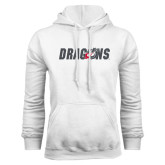 White Fleece Hoodie-Dragons