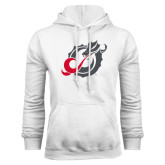 White Fleece Hoodie-Dragon Mark