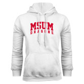 White Fleece Hoodie-MSUM Dragons