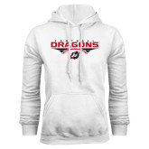 White Fleece Hoodie-Football Design