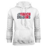 White Fleece Hoodie-March On Dragons