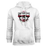 White Fleece Hoodie-2017 Northern Sun Intercollegiate Conference Womens Champions