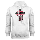 White Fleece Hoodie-2017 Northern Sun Intercollegiate Conference Mens Champions