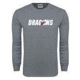 Charcoal Long Sleeve T Shirt-Dragons