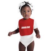 Red Baby Bib-Dragons