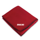 Red Arctic Fleece Blanket-Dragons