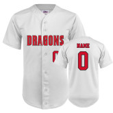 Replica White Adult Baseball Jersey-Personalized Softball