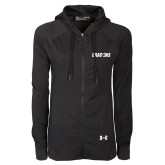 Ladies Under Armour Black Varsity Full Zip Hoodie-Dragons