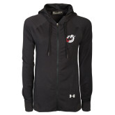 Ladies Under Armour Black Varsity Full Zip Hoodie-Dragon Mark